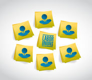 labor unions people and posts Royalty Free Stock Photography