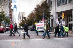 Labor unrest bad for business Royalty Free Stock Images