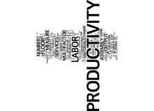 Labor Vis A Vis Multi Factor Productivity Text Background  Word Cloud Concept Royalty Free Stock Image