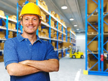 Labor in warehouse Royalty Free Stock Photo