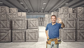 Labor in warehouse Royalty Free Stock Images