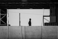 Labor. Worker duty a commitment. for the future Stock Photography