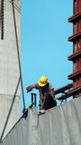 Labor working on construction site. Royalty Free Stock Photos