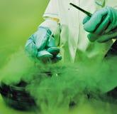 Laboranccy ciekłego azota banka spermy jajka Obraz Royalty Free