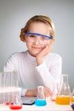 Laborancka dziewczyna Fotografia Stock