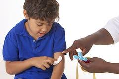 Laborancka próbka krwi na dzieciakach Fotografia Royalty Free