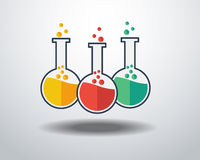 Laborancka Szklana ikona Fotografia Stock