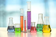 Laborancki Glassware obrazy stock