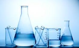 laboranckie butelek kolby Fotografia Stock