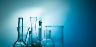 Laboranckie kolby i glasware Zdjęcie Stock