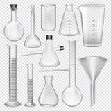 Laboranckiego glassware instrumenty Wyposażenie dla chemicznego lab ilustracji