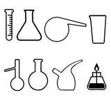 Laboranckiego glassware naczynia Zdjęcie Royalty Free
