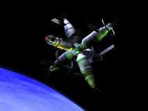 Laboratório de espaço futuro Imagem de Stock Royalty Free