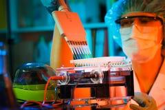 Laboratório de investigação do cancro Foto de Stock Royalty Free