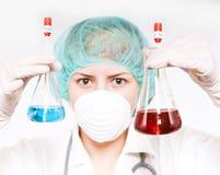 Laboratório de química Foto de Stock Royalty Free