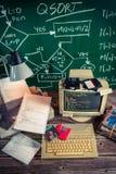 Laboratório do computador do vintage em um técnico Foto de Stock Royalty Free