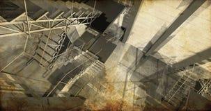 Laboratório. Interior industrial moderno, escadas, espaço limpo dentro mim Foto de Stock Royalty Free