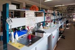 Laboratório para a análise química Imagem de Stock Royalty Free
