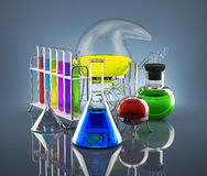 Laboratório químico Imagens de Stock Royalty Free