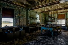 Laboratoire abandonné d'Uniersal Atlas Cement Company - Gary, Indiana image libre de droits