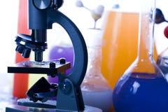 Laboratoire coloré Images libres de droits