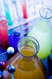 Laboratoire coloré Photographie stock