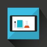 Laboratoire d'équipement de smartphone de prise de main Image libre de droits