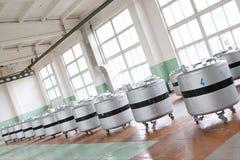 Laboratoire d'azote liquide photos stock