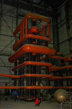 Laboratoire d'essais d'isolant avec les générateurs énormes de tesla Photo libre de droits