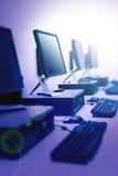 Laboratoire d'ordinateur photos stock