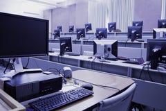 Laboratoire d'ordinateur Photo stock