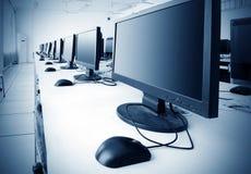 Laboratoire d'ordinateur Images stock