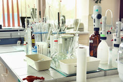 Laboratoire de chimie Photos stock