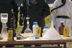 Laboratoire de drogue illégale photo libre de droits