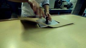 Laboratoire de qualité du moulin à papier banque de vidéos