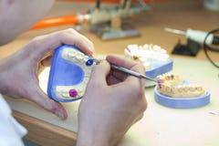 Laboratoire dentaire Photographie stock libre de droits