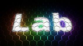 Laboratoire - espace chromatique Photo libre de droits