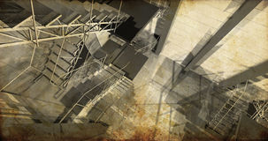 Laboratoire. Intérieur industriel moderne, escaliers, l'espace propre dedans i Photo libre de droits
