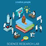 Laboratoire pharmaceutique chimique de recherches de la science plate du vecteur 3d Images stock