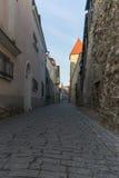 Laboratooriumi street in old town of Tallinn Royalty Free Stock Image