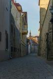 Laboratooriumi street in old town of Tallinn Royalty Free Stock Photos