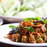 Laboratorio, alimento tailandés imágenes de archivo libres de regalías