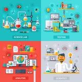 Laboratorio de ciencia, prueba, análisis, científico Imagen de archivo libre de regalías