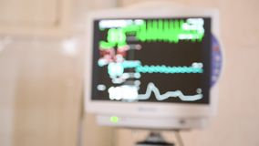 Laboratorio de diagnóstico médico con el equipo moderno Vídeo borroso metrajes