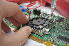 Laboratorio de electrónica Imagen de archivo