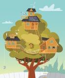 Laboratorio de la casa en el árbol ilustración del vector