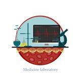 Laboratorio de la medicina Foto de archivo libre de regalías