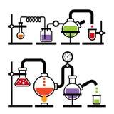 Laboratorio de química Infographic Imagenes de archivo