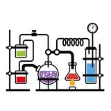 Laboratorio de química Infographic Imagen de archivo