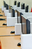 Laboratorio del calcolatore Fotografie Stock Libere da Diritti
